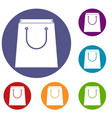 paper shopping bag icons set vector image vector image