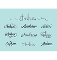 Personal name Andrew vector image vector image