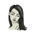 Portrait of a womanwith long hair vector image vector image