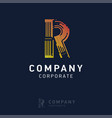 r company logo design with visiting card vector image vector image