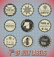 retro fourth july labels and icons vector image vector image