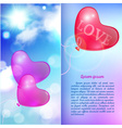 Romantic background valentines day card vector image