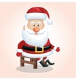 santa claus sitting chair design graphic vector image