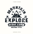 scout camp badge vector image vector image