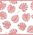 seamless pattern of monstera leaves vector image vector image
