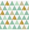 Seamless pattern with gold triangles vector image vector image