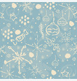 seamless winter pattern with hand drawn spruce vector image vector image