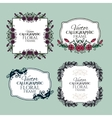 Set of floral vintage calligraphic frames and vector image