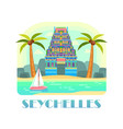 seychelles resort with beach and ocean vector image vector image