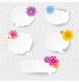 Speech bubble set with flowers