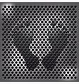 Steel footprint vector image vector image