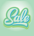 stylish calligraphic green lettering sale vector image vector image
