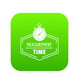 timer icon green vector image vector image