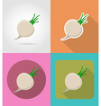 vegetables flat icons 08 vector image vector image