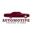 vintage automotive logo vector image vector image
