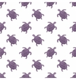 Watercolor seamless pattern with turtles on the vector image vector image