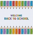 Welcome back to school bacground vector image vector image