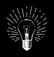 with light bulb modern hipster sketch style idea vector image vector image