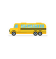 yellow school bus with black stripes passenger vector image