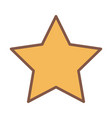yellow star award element cartoon icon vector image