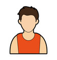 young man wearing sleeveless top faceless avata vector image vector image