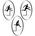 Athletics Running hurdles vector image