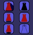 Dress icons set vector image