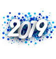 2019 new year background with blue drops vector image vector image