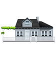 A gated house vector image vector image