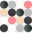 Abstract seamless pattern with textured circles vector image vector image