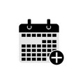 add calendar date icon symbol vector image