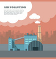 air pollution banner factory with smog pipes vector image