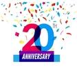 Anniversary design 20th icon anniversary vector image vector image