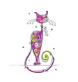 Art cat for your design vector image vector image