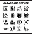 automotive garage and service solid icon vector image vector image