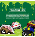 background design with zombie themes vector image vector image