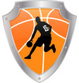 basketball icon vector image vector image