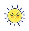 beauty kawaii and angry sun design vector image vector image