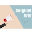 Belgium win Flat design business vector image vector image