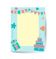 birthday background with cake vector image vector image