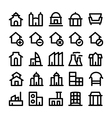 Buildings and Furniture Icons 3 vector image vector image