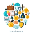 Business and finance concept from flat icons in vector image vector image