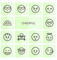 cheerful icons vector image vector image
