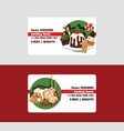 christmas food chef business card and desserts vector image vector image