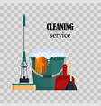 cleaning service colorful set house cleaning vector image vector image