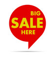 colorful pointer of sale vector image vector image