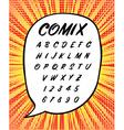 Comics or House Sign Handwritten Font in vector image vector image