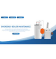 concept page plumbing fixture vector image vector image
