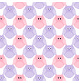 cute pink and violet owls vector image