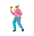 dancing and drinking vector image vector image